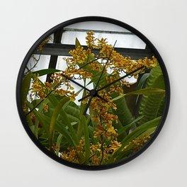 Oncidium Wall Clock