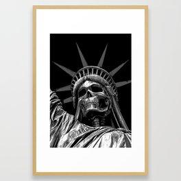 Liberty or Death B&W Framed Art Print
