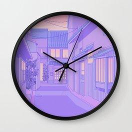 Lavender Street Wall Clock