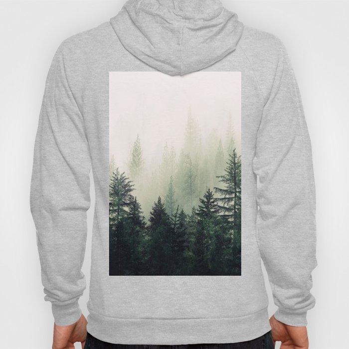 Foggy Pine Trees Hoodie