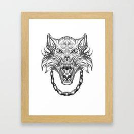Norse Wolf Monster Fenrir Framed Art Print