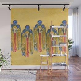Golden Celestial Winged Angel Wall Mural
