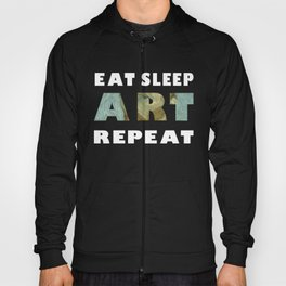 Eat Sleep Art Repeat Vincent van Gogh Self Portrait Hoody