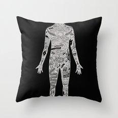 the illustrated man - bradbury Throw Pillow
