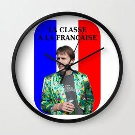 La classe à la française Wall Clock