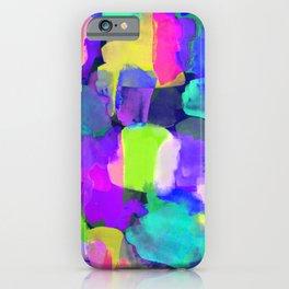 Brushstroke Blue iPhone Case