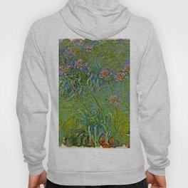 """Claude Monet """"Agapanthus Flowers"""" Hoody"""