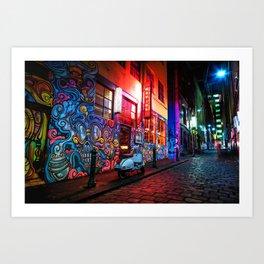 Evening in Hosier Lane Art Print