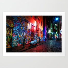 Evening in Hosier Lane Art Print