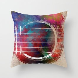 Guitar art 17 #guitar #music Throw Pillow