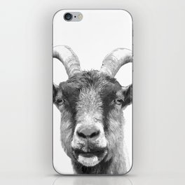 Black and White Goat iPhone Skin