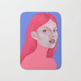 Woman in pink Bath Mat
