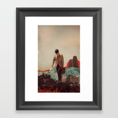 Leaving Their Cities Behind Framed Art Print
