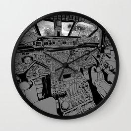 SpaceJet (B/W) Wall Clock