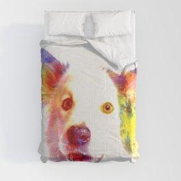 Welsh Border Collie Pop Art Comforters