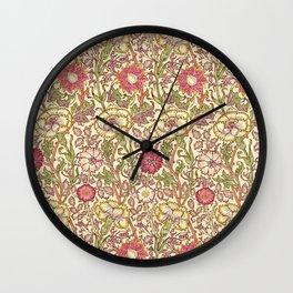 "William Morris ""Pink and Rose"" 3. Wall Clock"