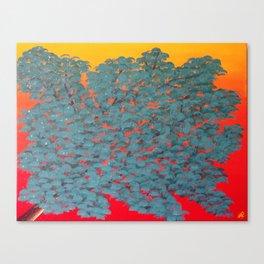 Turquoise tree Canvas Print