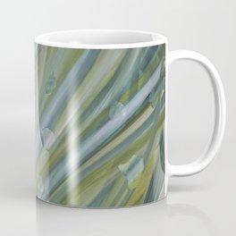 Green coloured abstract acrylic painting Coffee Mug