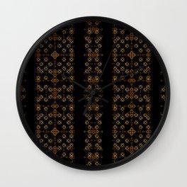 Dark Arabic Stripes Pattern Wall Clock