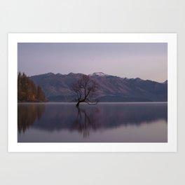 Mountain Series - Wanaka Tree Art Print