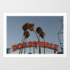 Vintage Boardwalk Sign Art Print