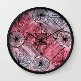 Zendala of Lines Wall Clock