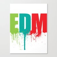 edm Canvas Prints featuring EDM Lover by DropBass