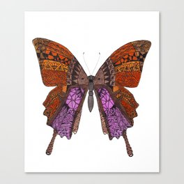 Tangled Butterfly Browns & Pinks Canvas Print
