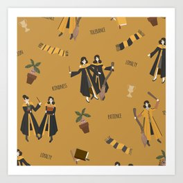Hufflepattern Art Print