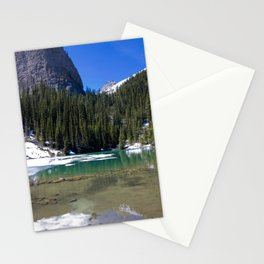 Winter Photography: Mirror Lake, Banff, Canada Stationery Cards