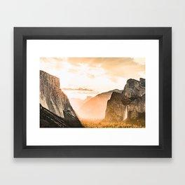 Yosemite Valley Burn - Sunrise Framed Art Print