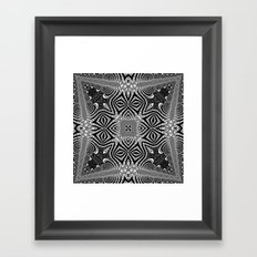 Black & White Tribal Symmetry Framed Art Print