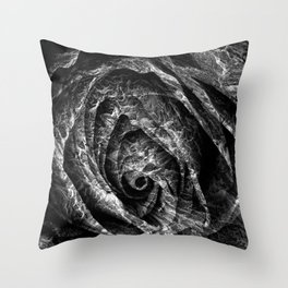 Charred Rose Throw Pillow