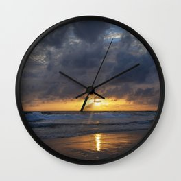 Tropical sunset in Phuket Wall Clock