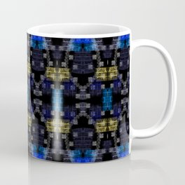 Dark Blue Gold Digital Abstract Design Coffee Mug