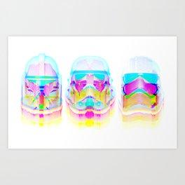 Stormtrooper Helmets Art Print