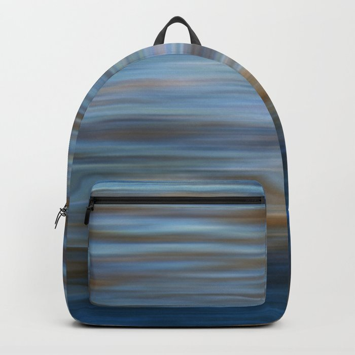 Ripples in water natural pattern Backpack