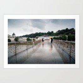 Padlock bridge in Salzburg Art Print