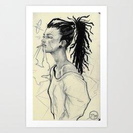 016 Smoke Art Print