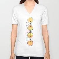 bikes V-neck T-shirts featuring Bikes by KateWadsworth