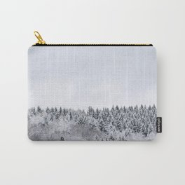 white winter FOREST Carry-All Pouch