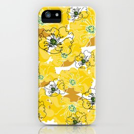 yellow marzipan flowers iPhone Case
