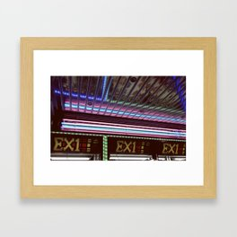 lines of light Framed Art Print