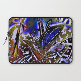 Vivid Foliage in blue Laptop Sleeve