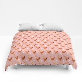 Chickens all around Comforters