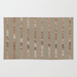 Rose gold stripes on natural grain Rug