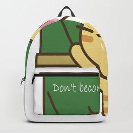 Puss says don't become a teacher.  Funny, sarcastic teacher design Backpack