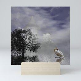 behind the clouds Mini Art Print