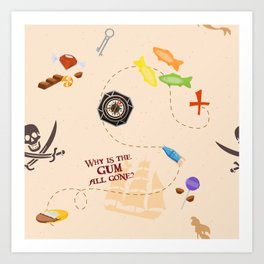 Pirates of the Candibbean Art Print