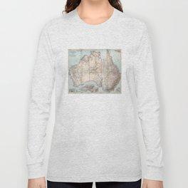 Australian Topography Map (1911) Long Sleeve T-shirt